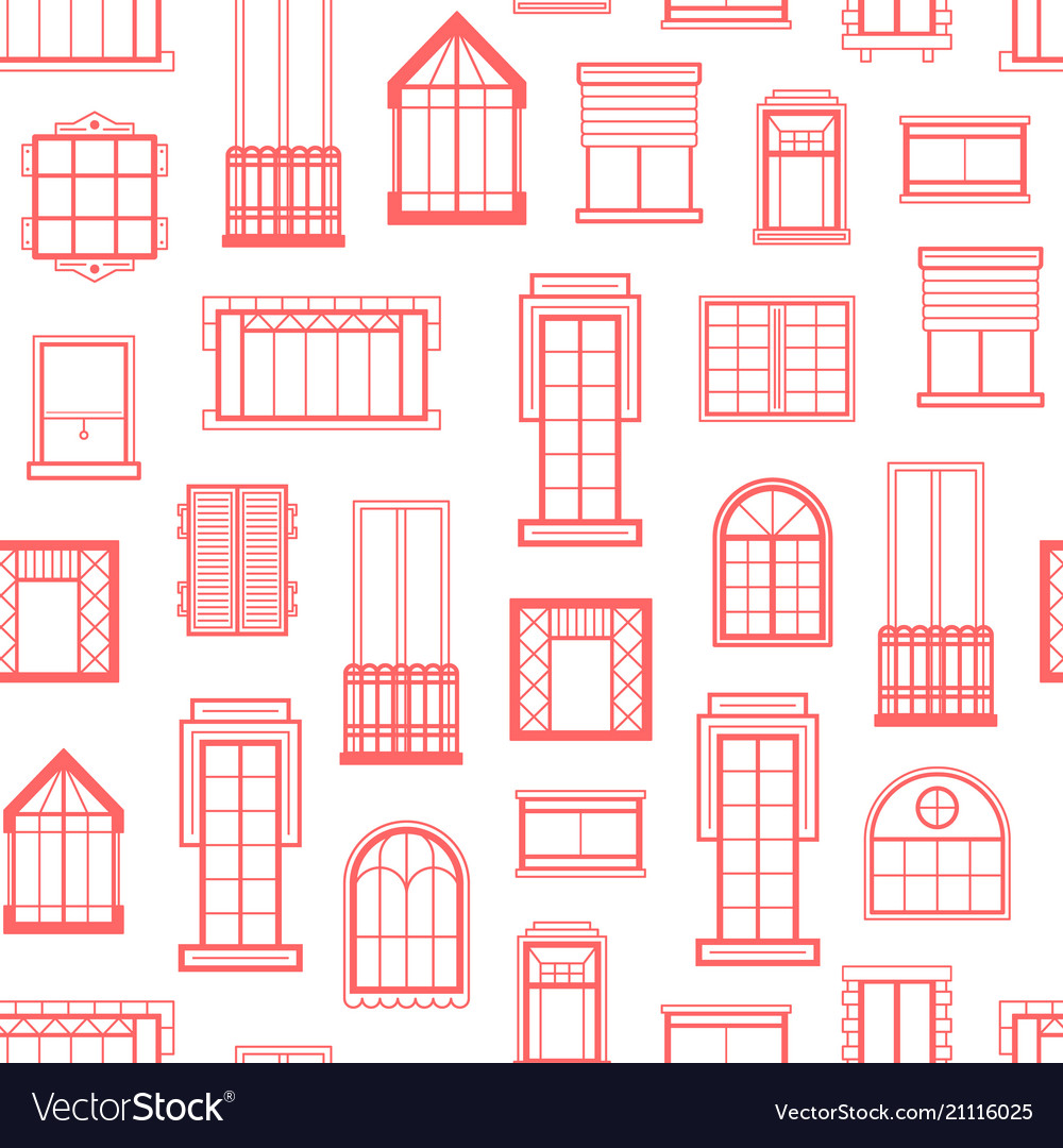 Window flat icons monochrome background