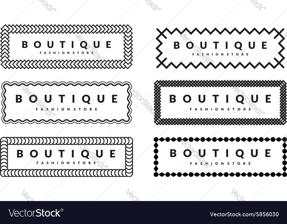 Beautiful creative borders design template set
