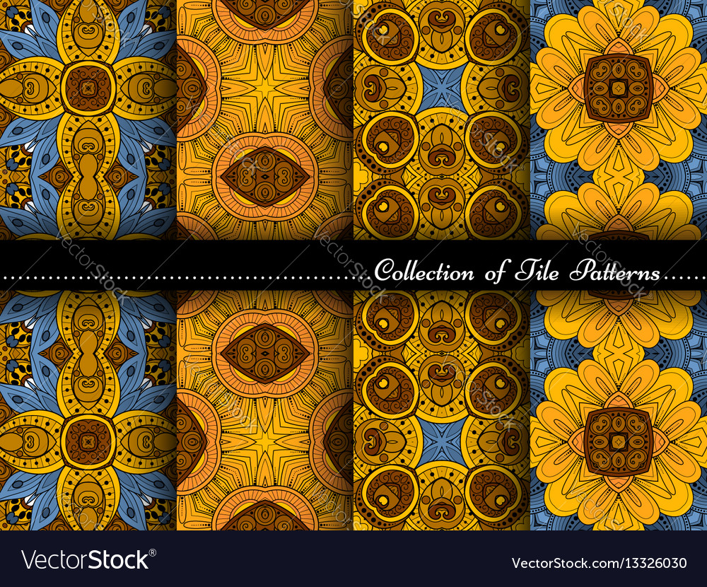 Collection of seamless vintage patterns