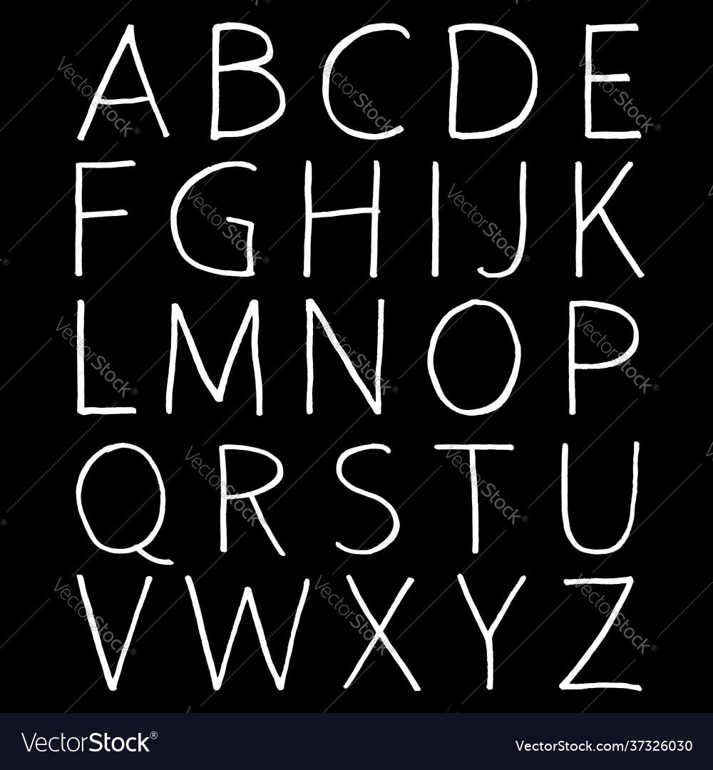 Hand-drawn alphabet calligraphy font modern brush
