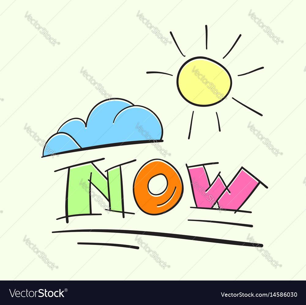 Now act change inspire vector image