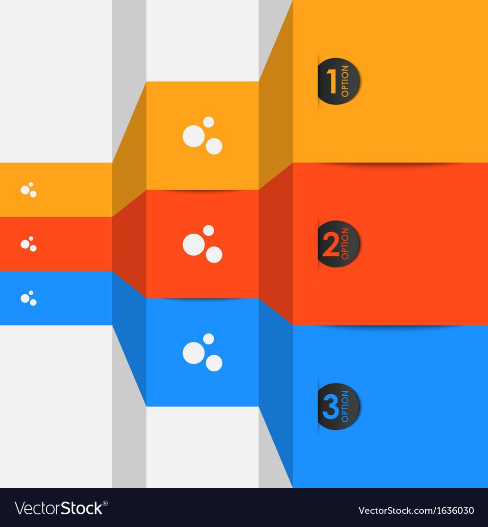 Option steps background vector image