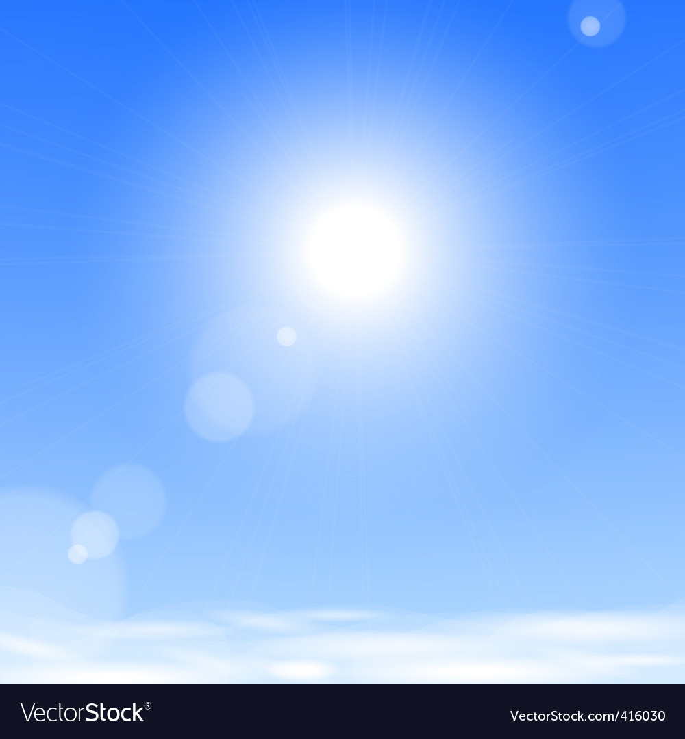 Sun above the clouds vector image