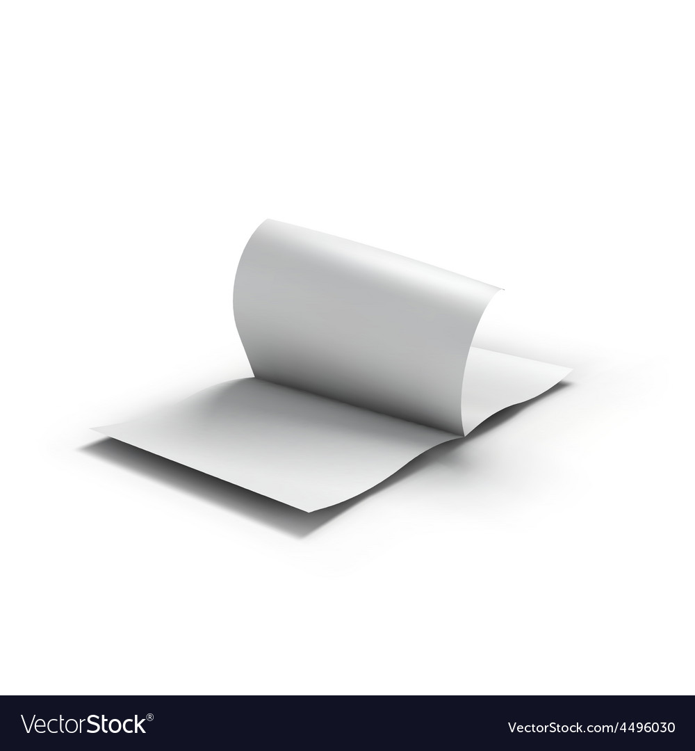 white blank magazine spread business mockup vector image