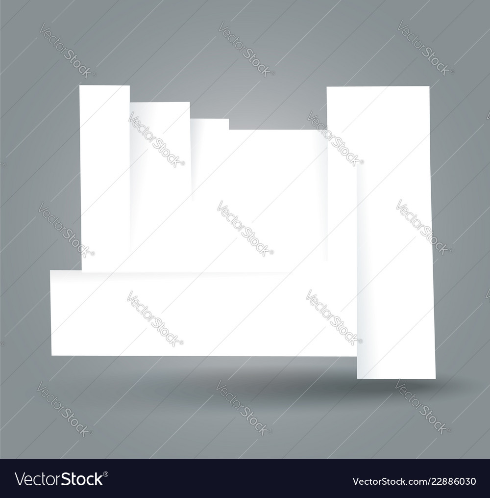 White cut banner with place for your text
