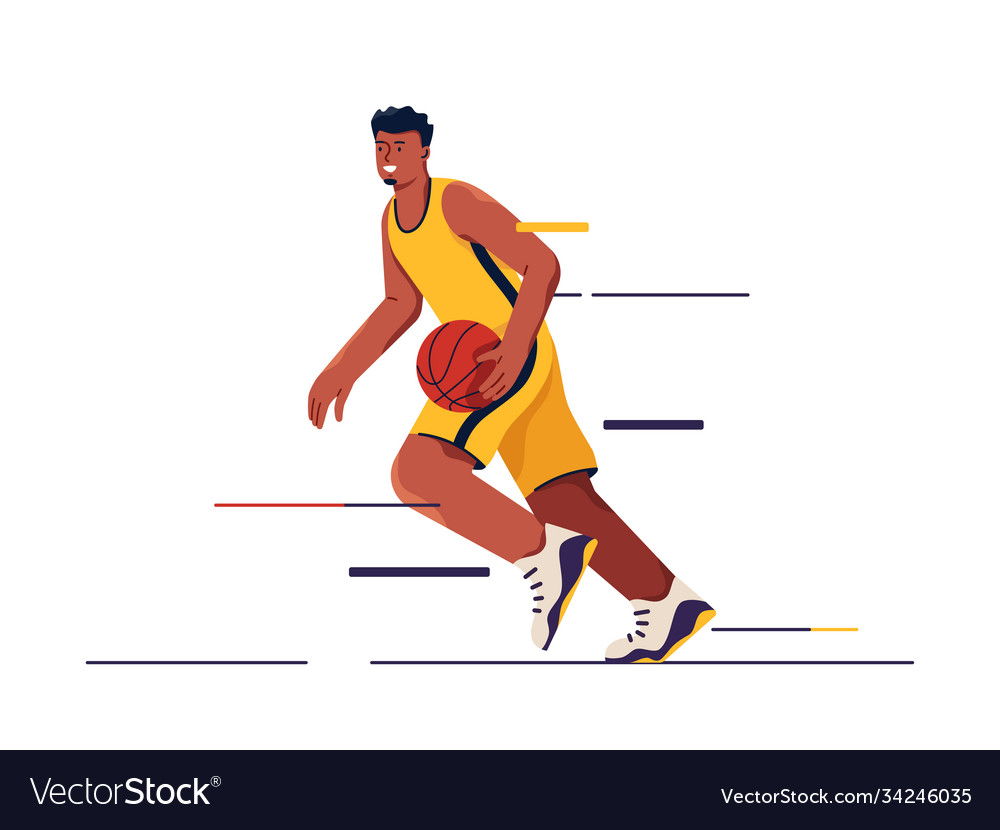 A basketball player in