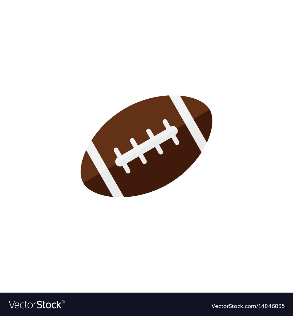 American football ball flat icon college sport