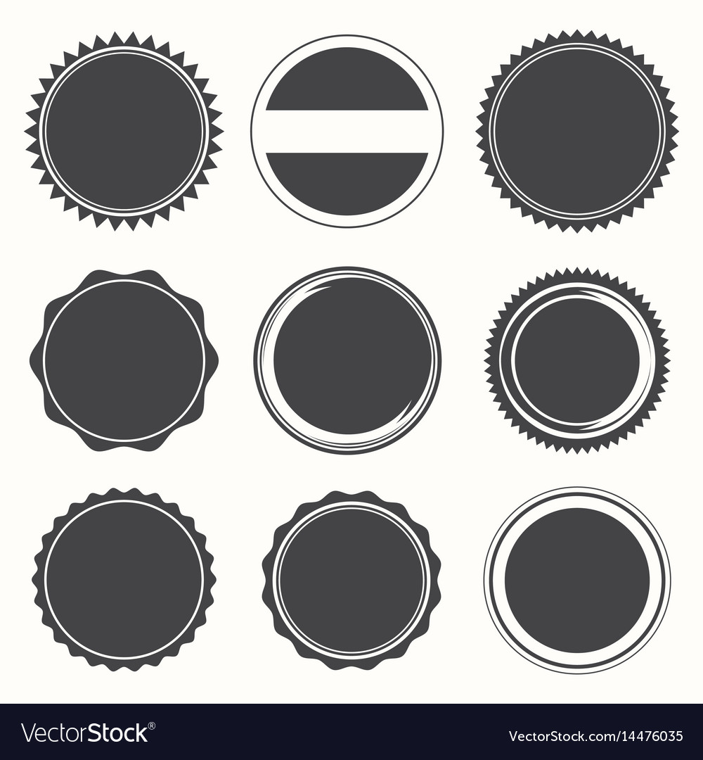 Blank round stamps for logo
