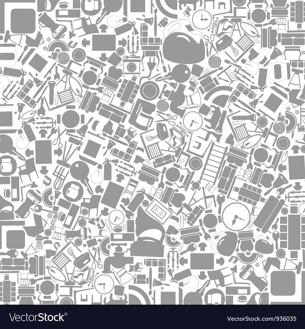 Furniture A Background Royalty Free Vector Image