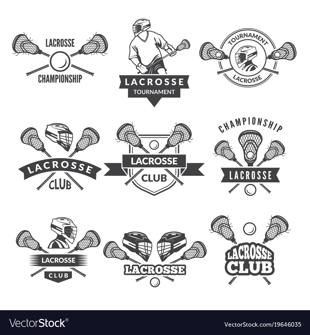 Logos or labels for lacrosse team in sport