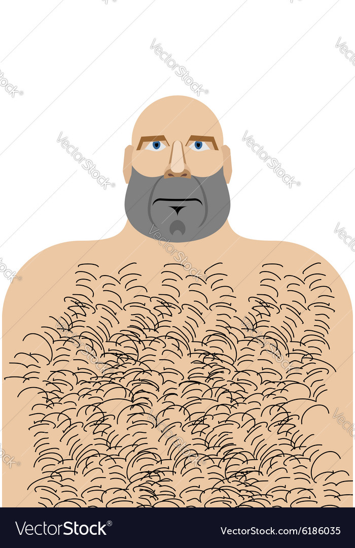 Matchless message man with beard hairy chest was