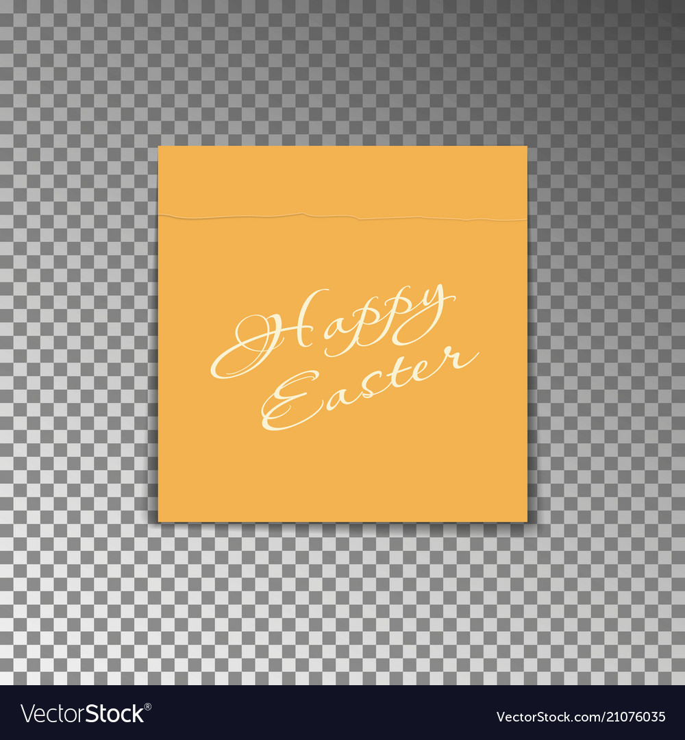 Office yellow post note with text happy easter pa