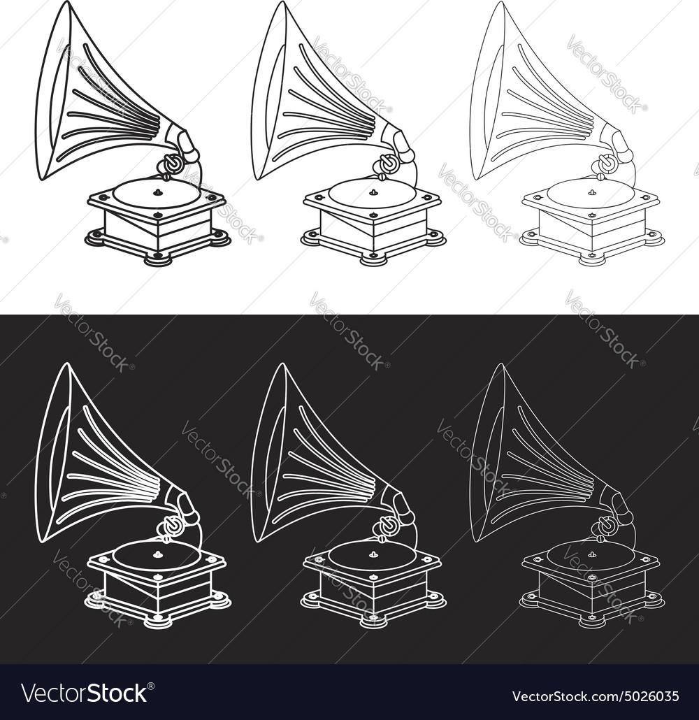 Old gramophone in eps