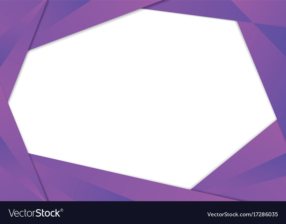 Purple triangle frame border Royalty Free Vector Image