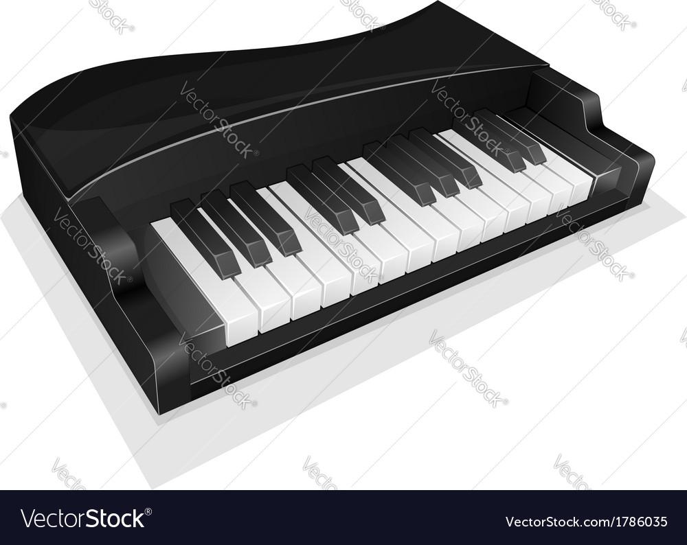 Small black piano