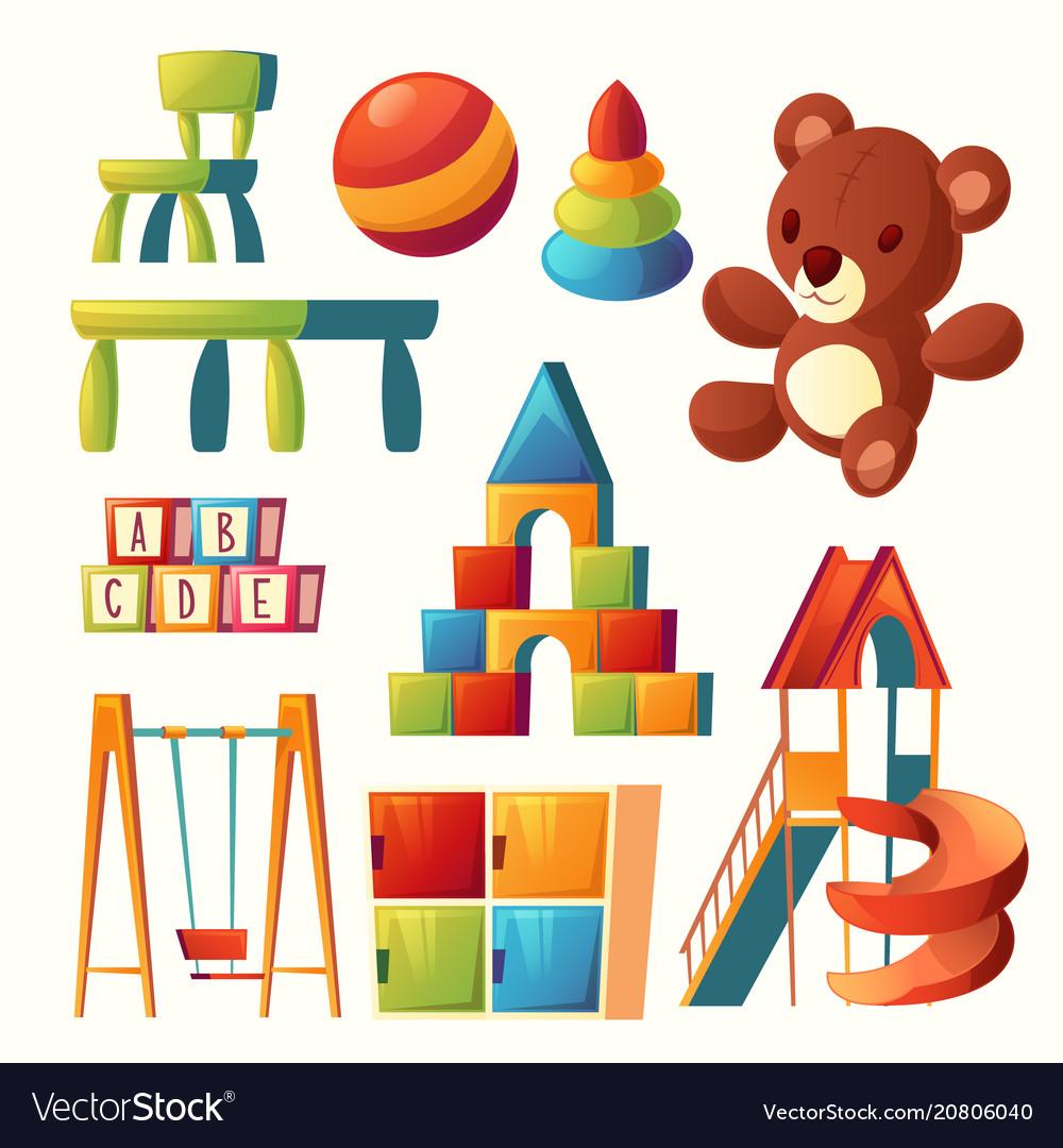 Cartoon toys for children playground