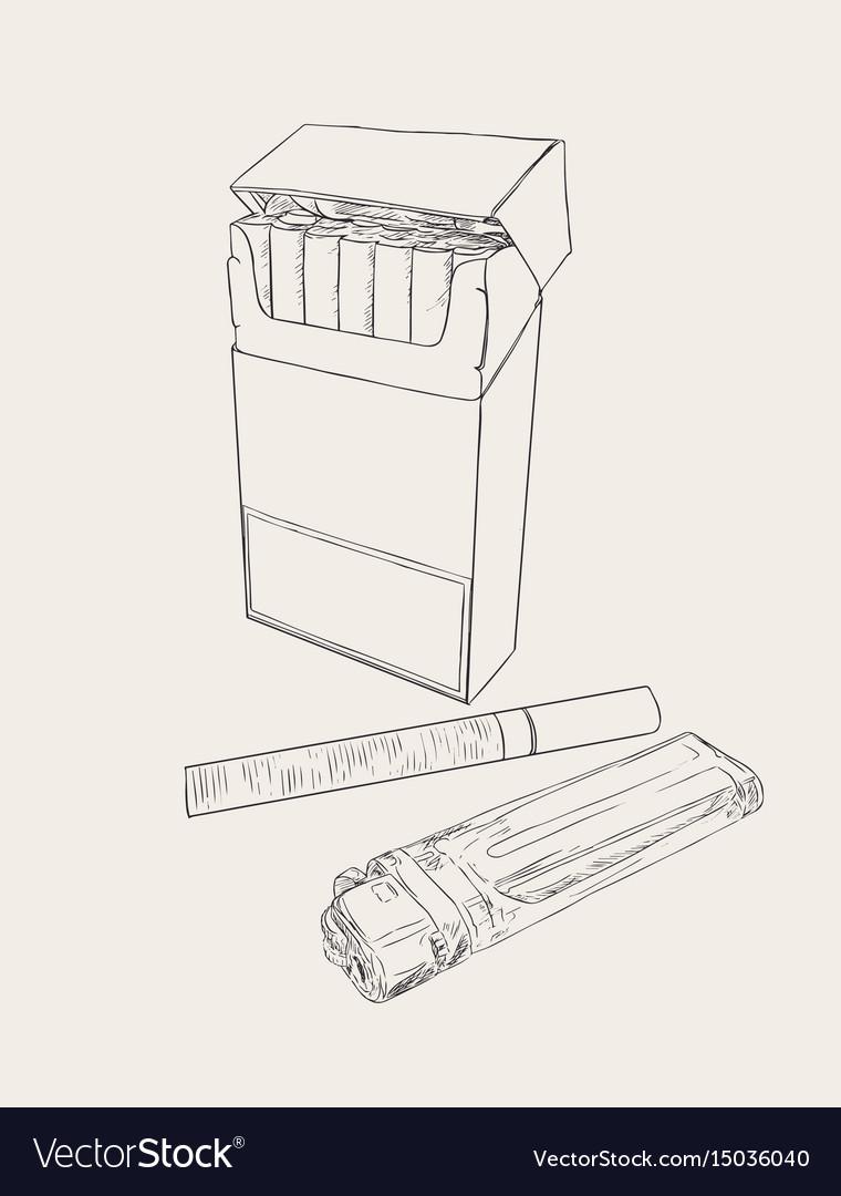Cigarettes pocket sketch