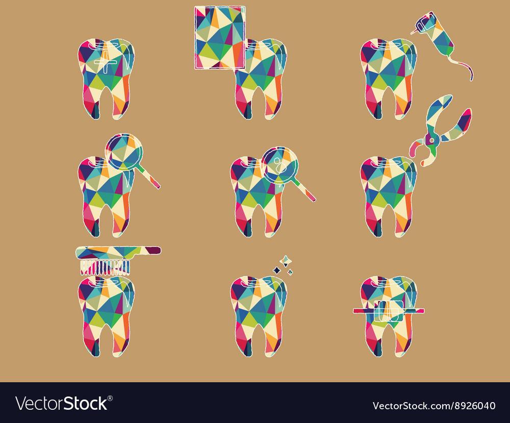 Colourful dental vector image