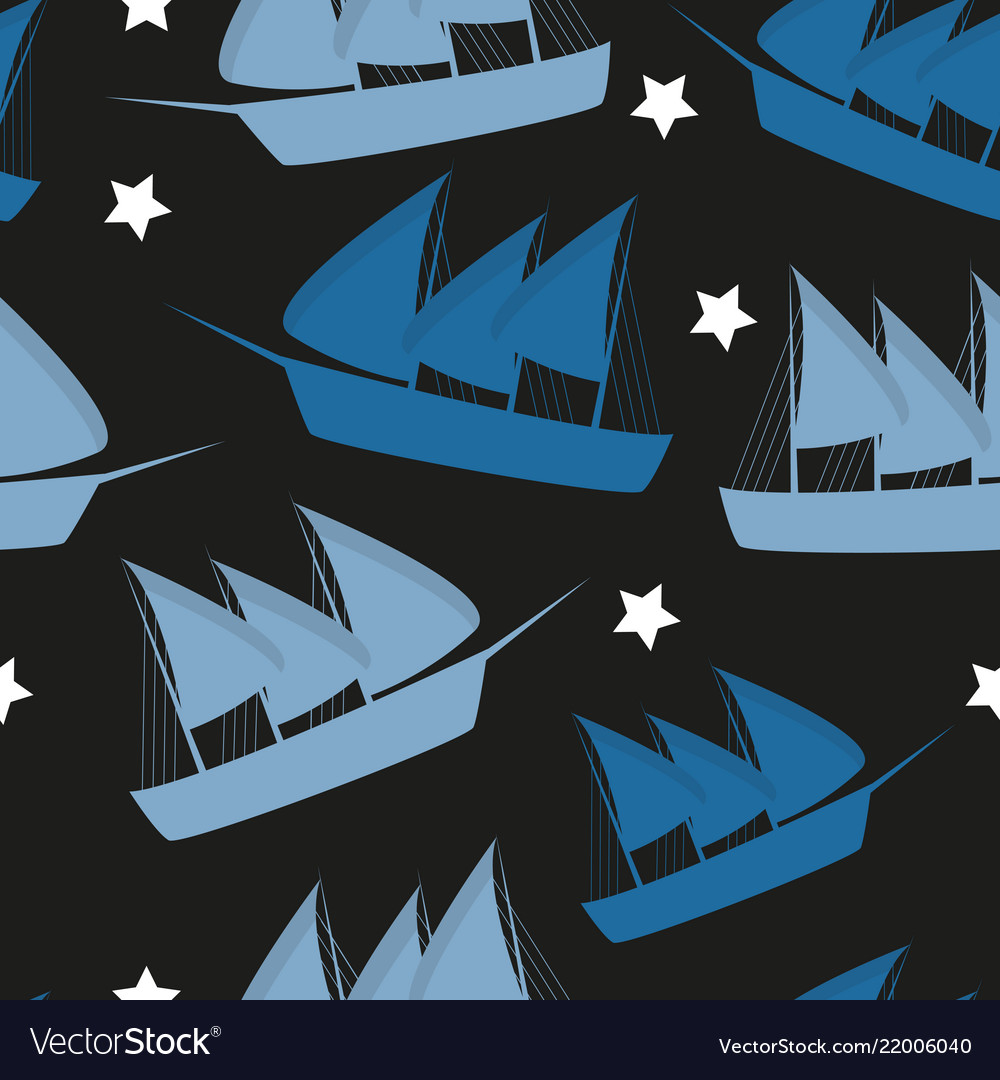 Columbus day pattern repeat seamless in blue color