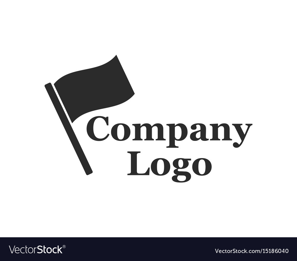 Company logo with flag vector image