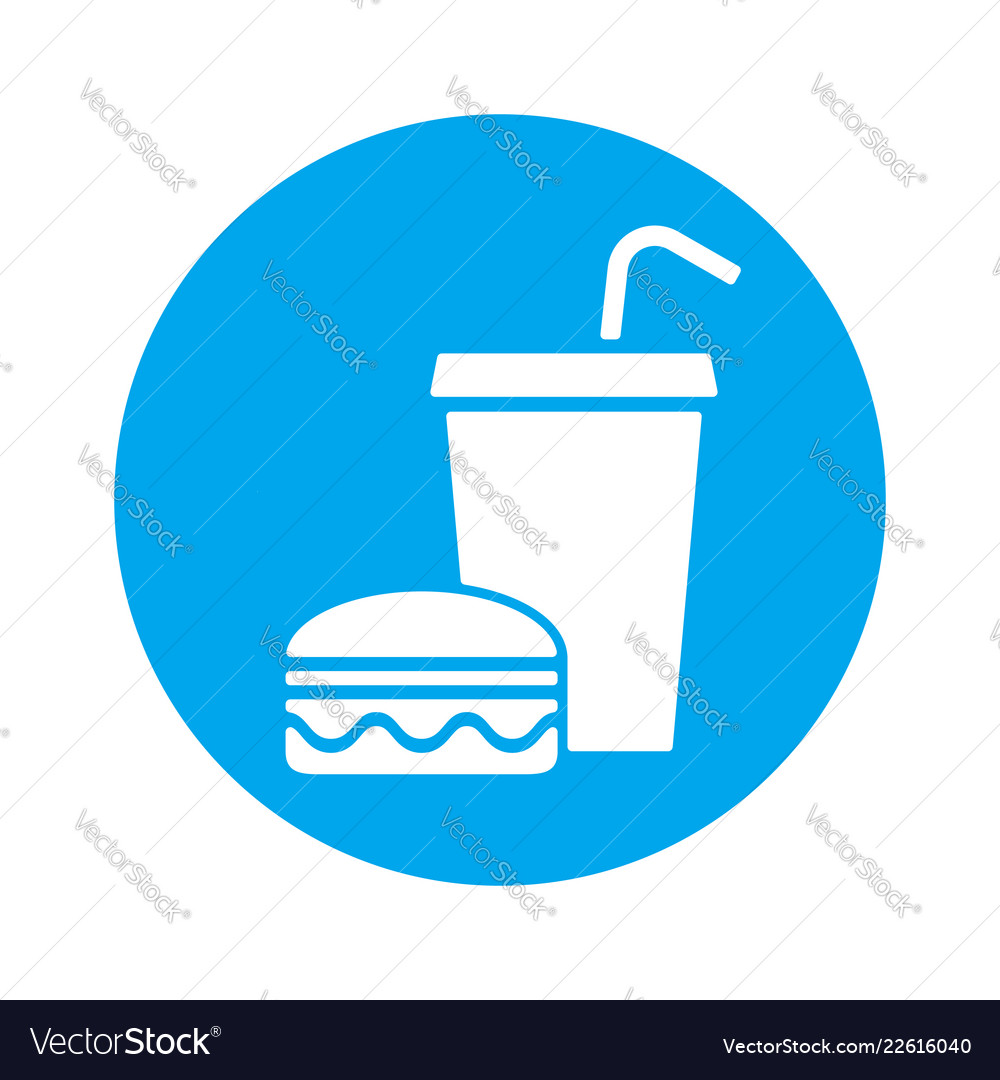 Fast food eat and drink icon