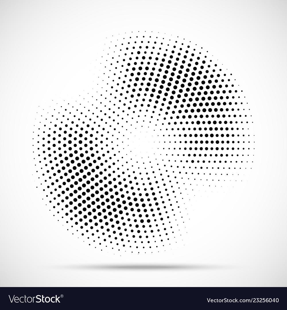 Halftone circle frame random dotted background
