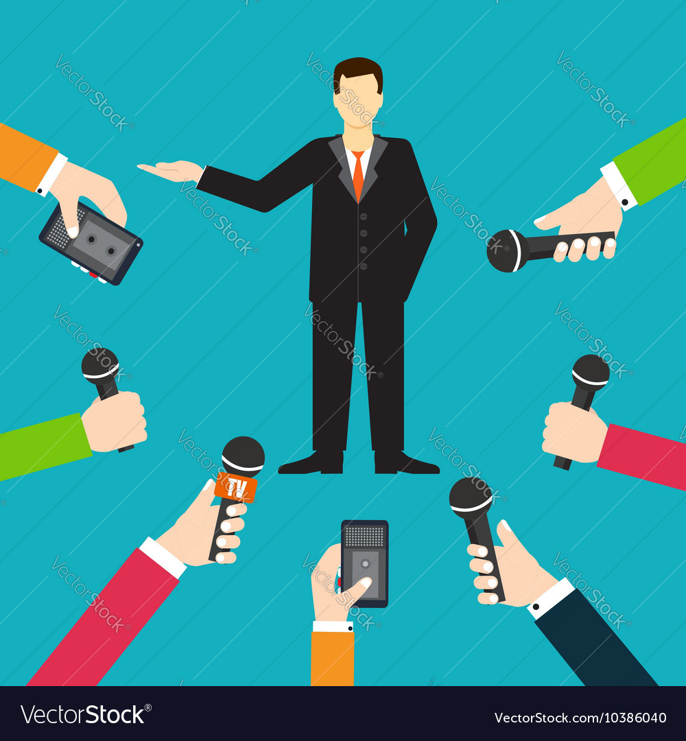 Interview a businessman or politician answering