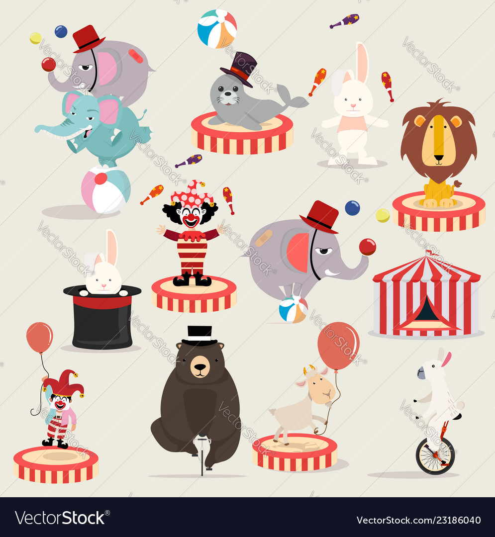 Lovely circus characters festival set