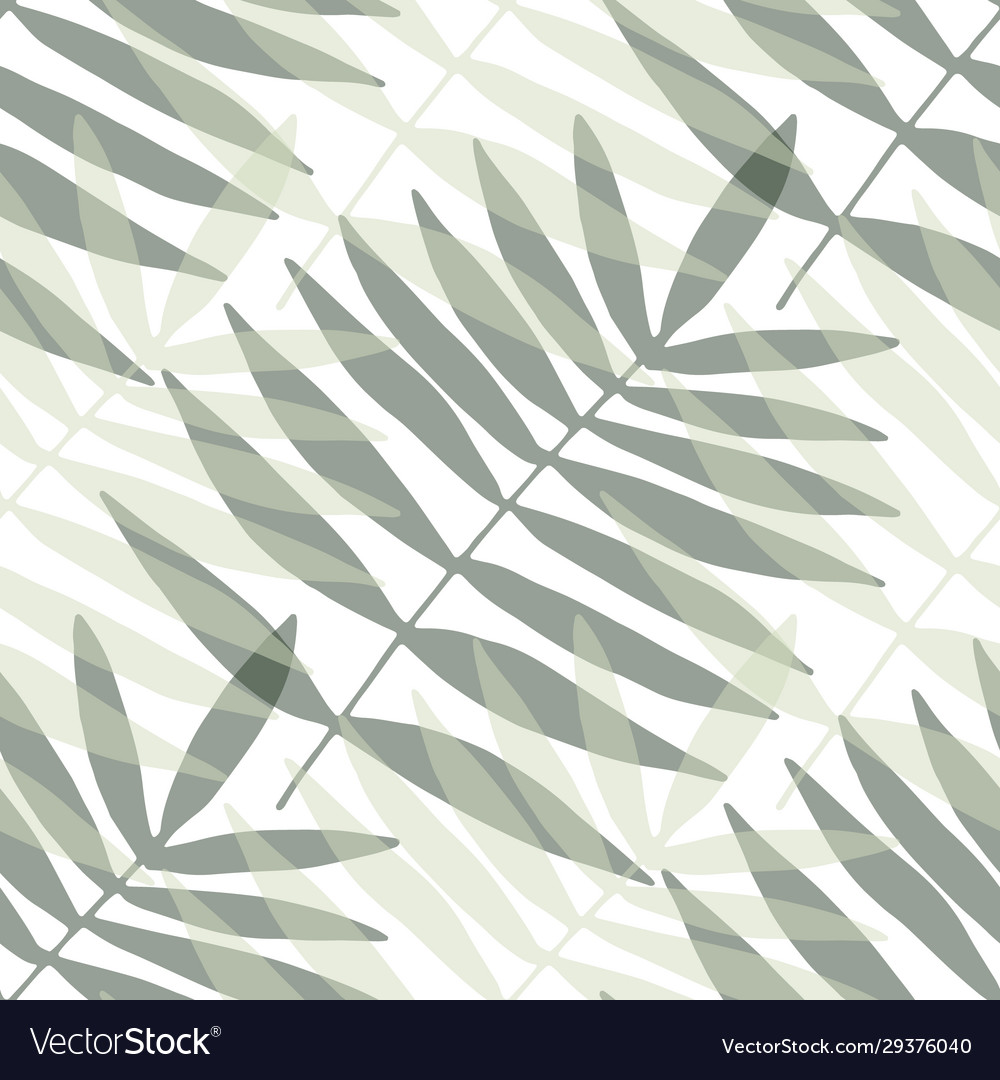 Modern seamless texture with palm leaves stylish
