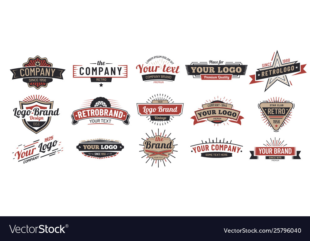 Old badges vintage sign retro premium badge and
