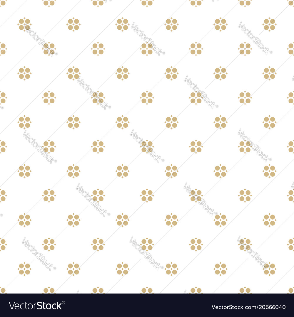 Seamless gold abstract geometric floral pattern