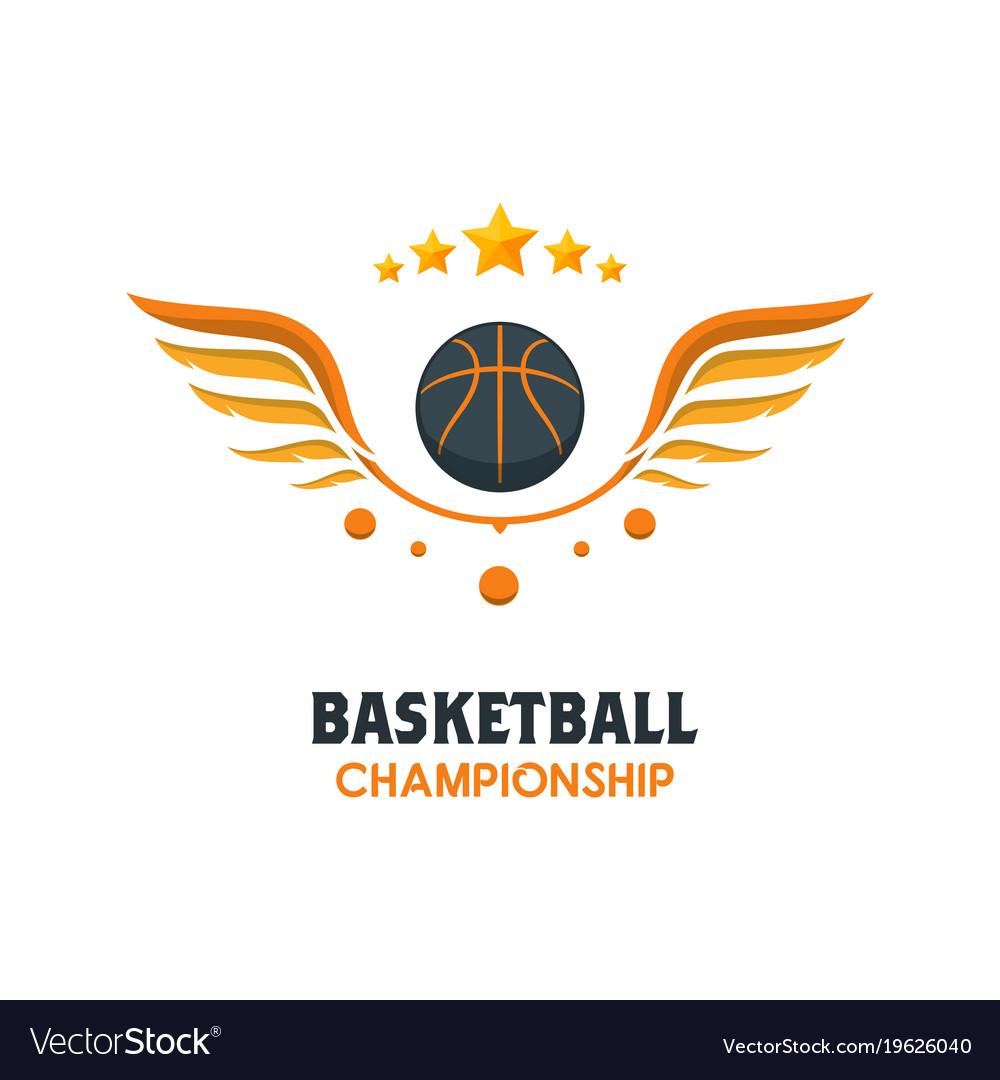 silhouette of basketball ball basketball logo vector image