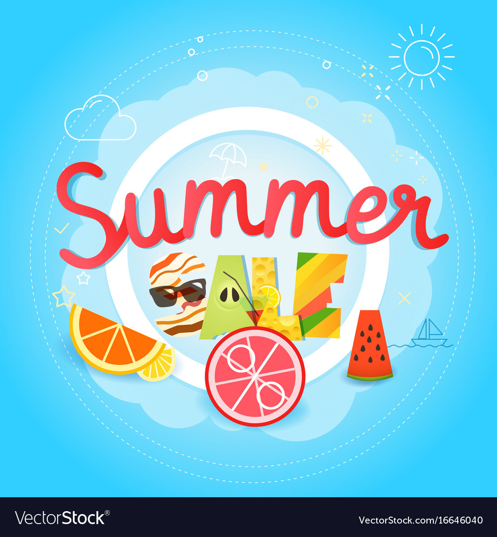 Summer sale season sale concept