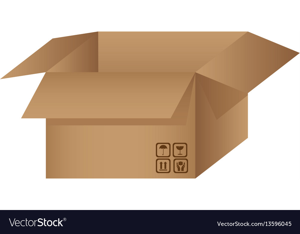 Box open with symbols icon vector image