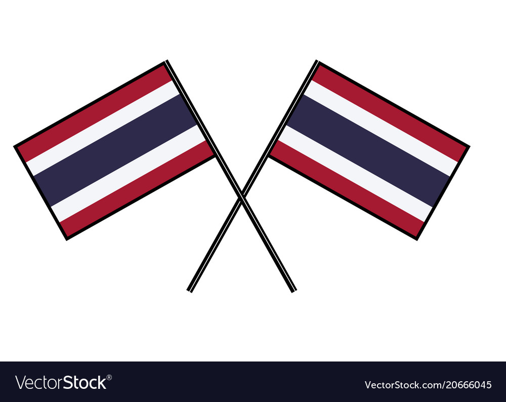Flag of thailand stylization of national banner