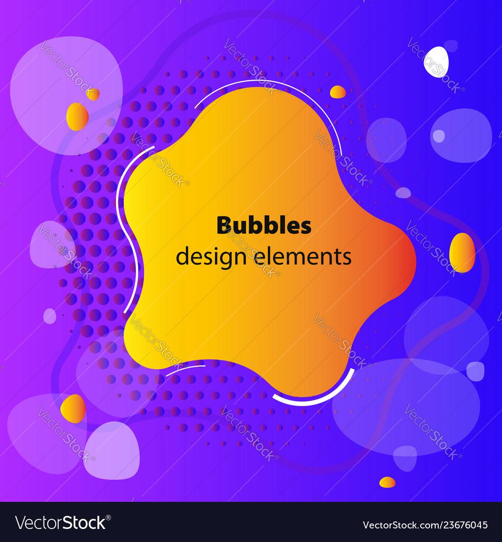 Fluid gradient elements for minimal banner logo