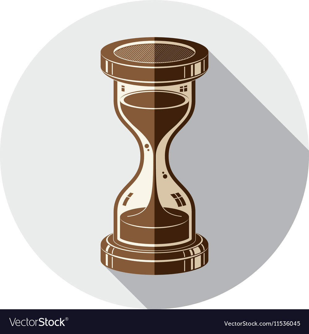 Old-fashioned simple 3d hourglass time management