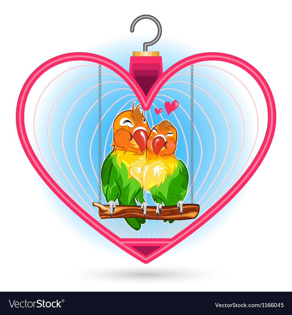 Valentine love bird