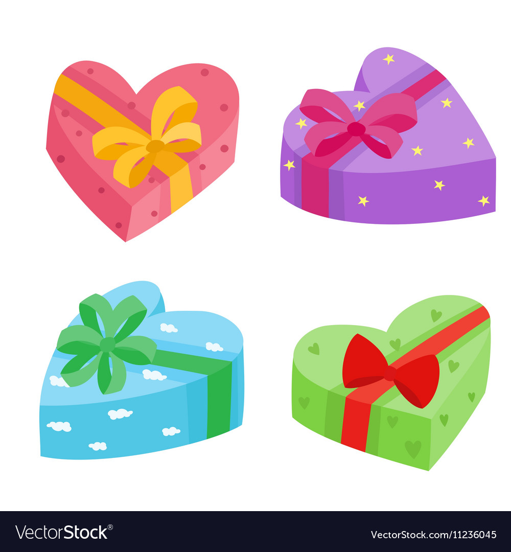 Valentines Days Presents Collection Royalty Free Vector