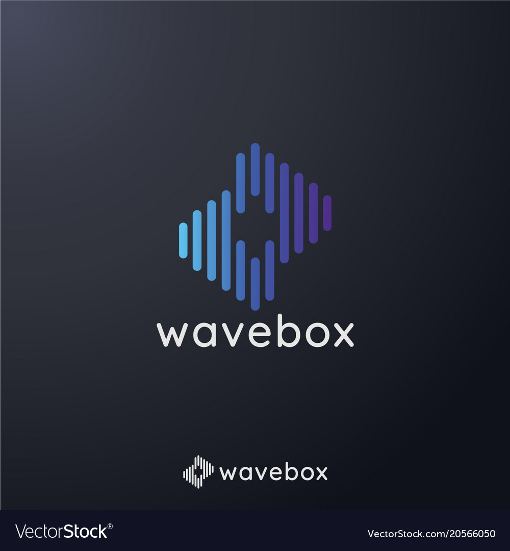 Abstract audio signal wave pulse logo for vector image on VectorStock