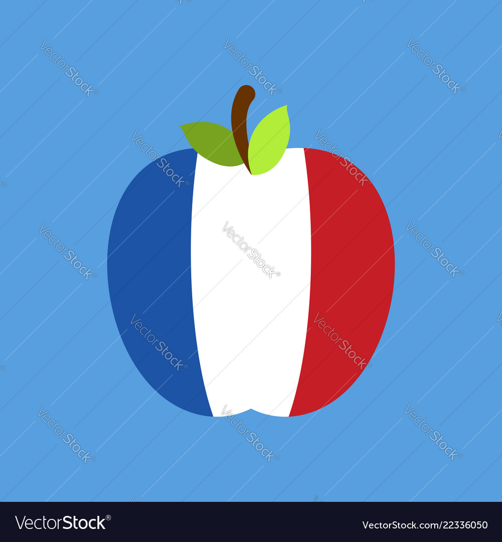 Apple france flag french national fruit