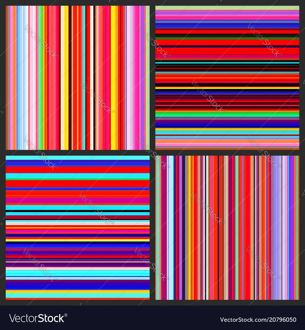 Color lines background set