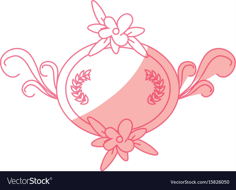 decorative blank label royalty free vector image