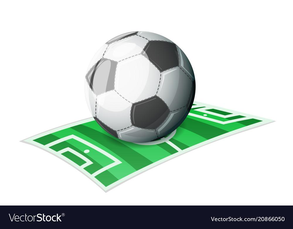 Football ball field sport cartoon isolated icon