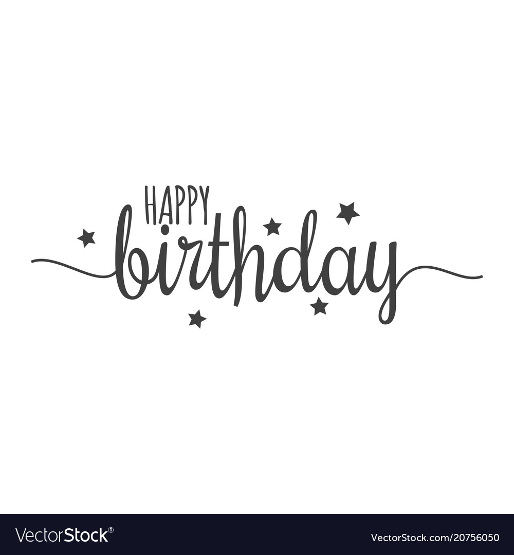 Happy Birthday Sign On White Background Royalty Free Vector