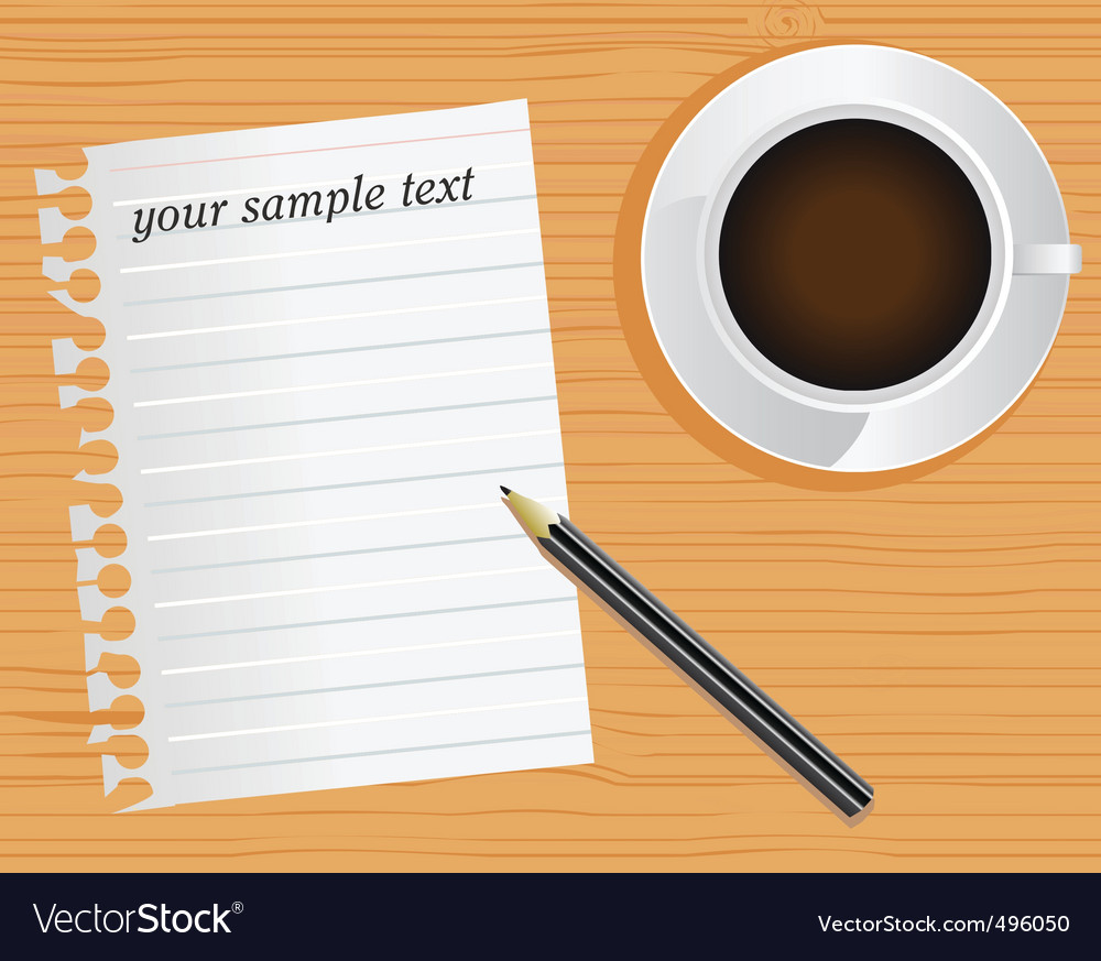 Pages and desk vector image