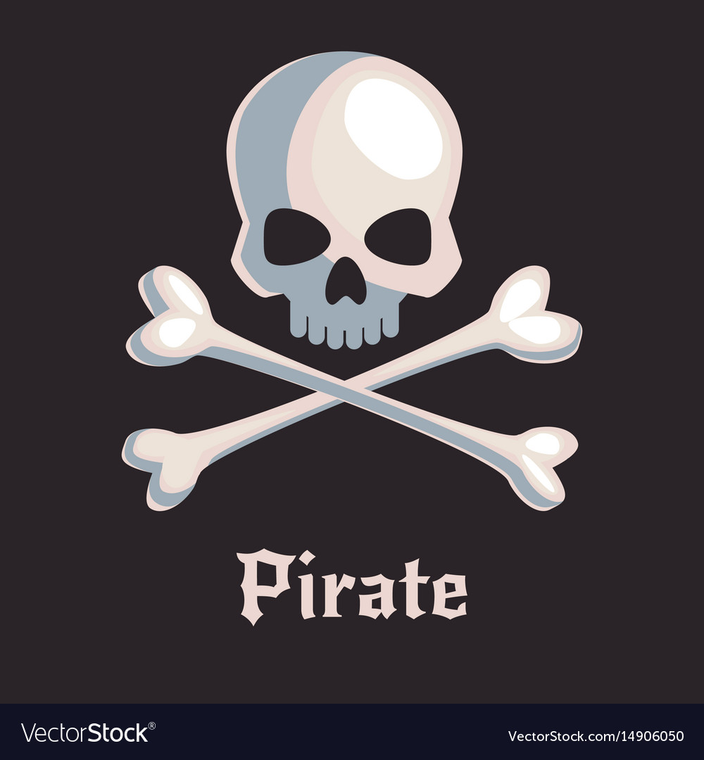 Pirate skull and bones sign