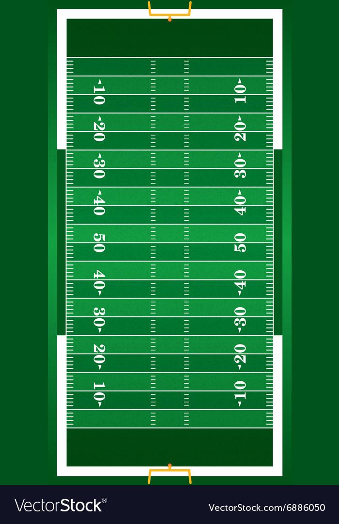 Realistic American Football Field vector image