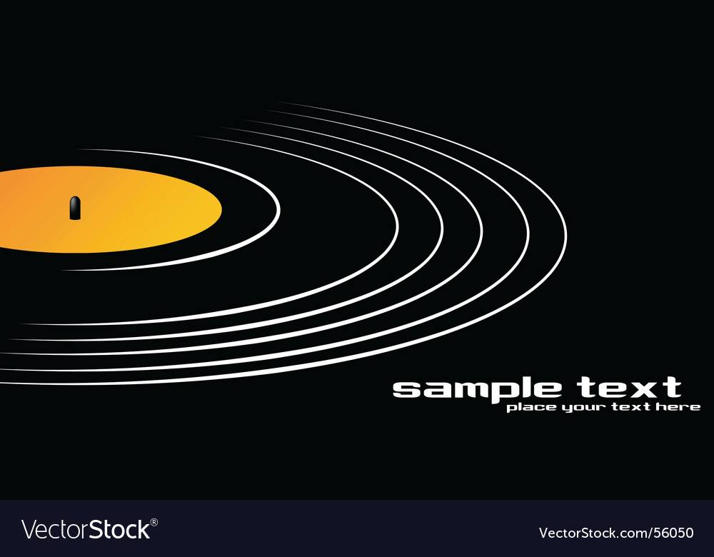 Spin that record vector image