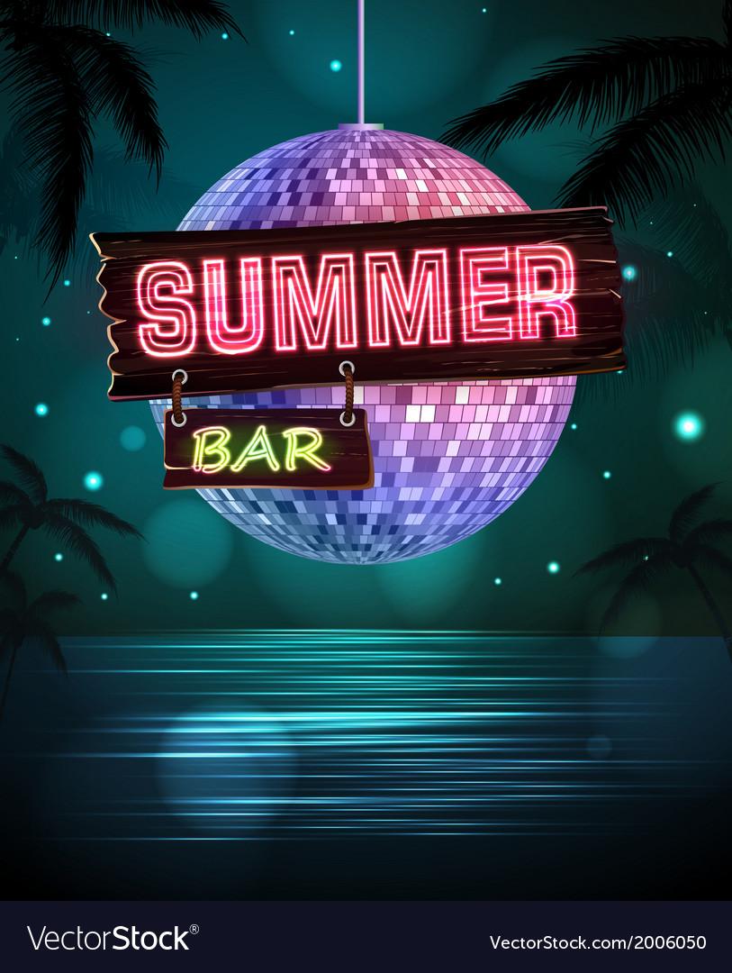 Summer disco background Disco poster